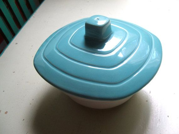 Vintage California Pottery Lidded Bowl by lookonmytreasures