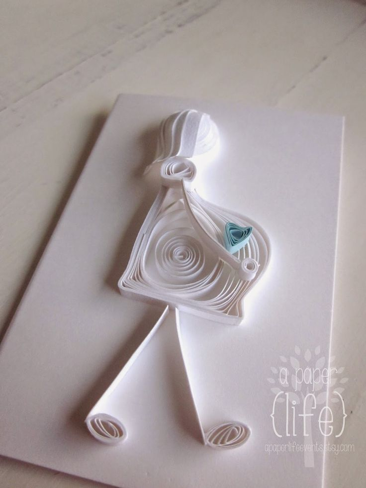 ... and here is the gift card that went with the quilled baby buggy I posted last post   I've made this card before but it's hard to tel...