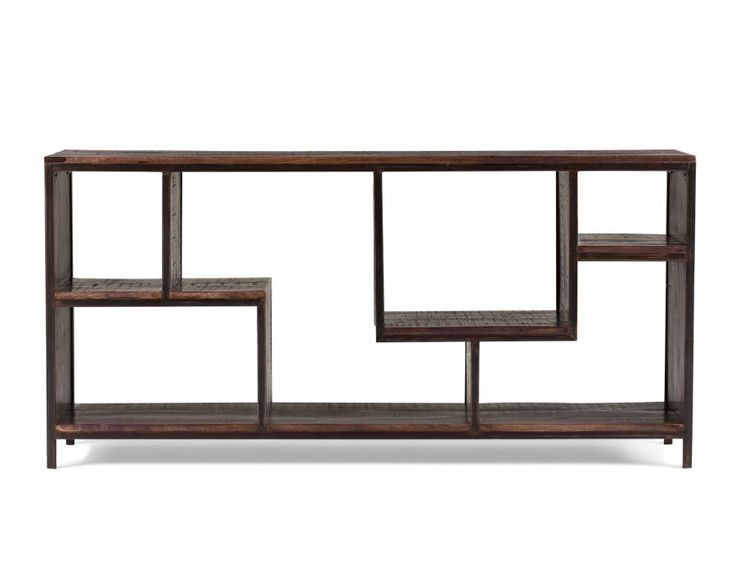 Your options are wide open with Huntley. With shelves that twist and turn, display becomes an art form, whether you're storing books, magazines or collectibles. A rich, solid mango-wood frame gives this  contemporary piece of furniture warmth, while iron legs provide stability and a hint of industrial style. Handmade in India, this piece was hand brushed and polished, giving it a unique weathered oak finish  that is completely water-based and lead-free. Pair it with Structube's Huntley…