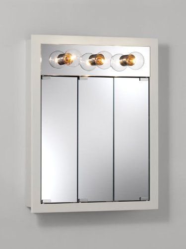medicine cabinet with lights broan nutone 755363 24 inch granville surface mount 23148