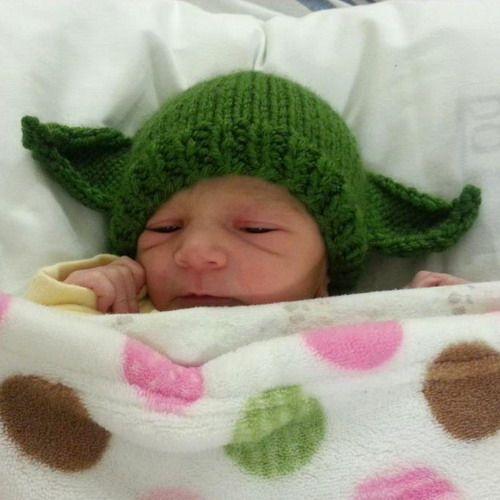 Yoda Baby Hat Knitting Pattern : Newborn Yoda Hat