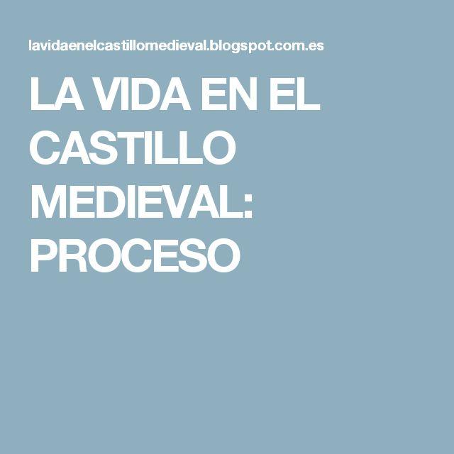 LA VIDA EN EL CASTILLO MEDIEVAL: PROCESO