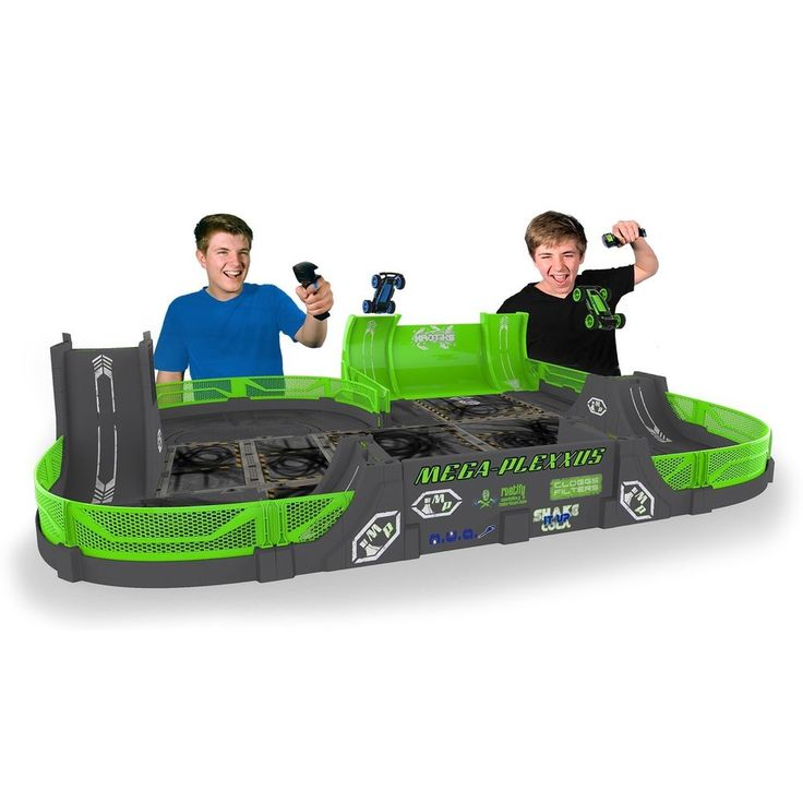 Mega Plexxus Playset Toy Racing Track Stunt Features And High Jumps 2 Vehicles  #MEGA