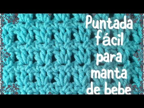 Puntada fácil y rápida para manta de bebe en gancho (para principiantes) #43 - YouTube