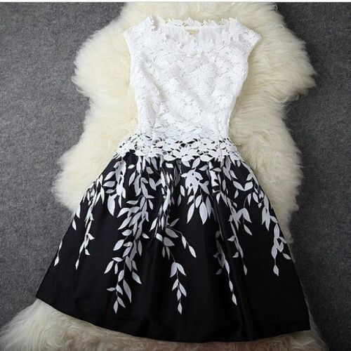 black and white flower dress  on imgfave