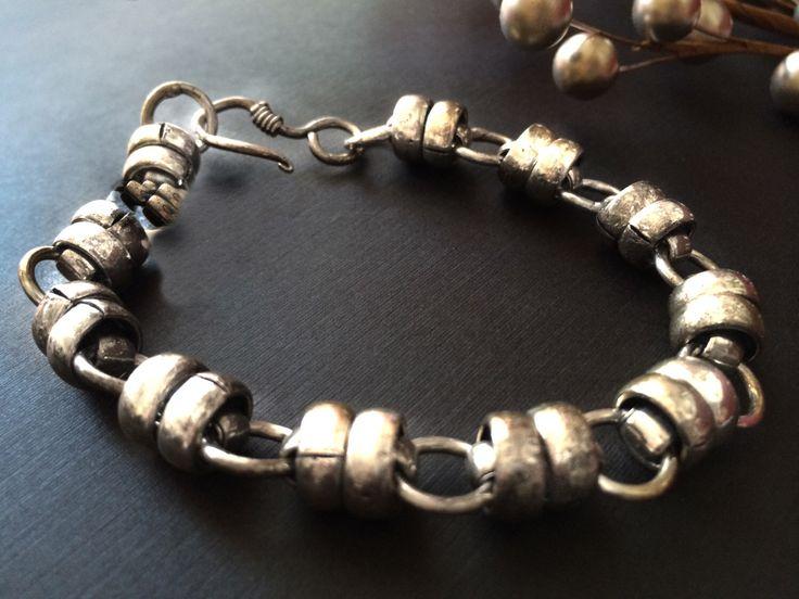 Silver Link bracelet, Men Silver bracelet, silver bracelet for women, bracelet Vintage style by Taneesi Jewelry by taneesijewelry on Etsy https://www.etsy.com/listing/198344176/silver-link-bracelet-men-silver-bracelet