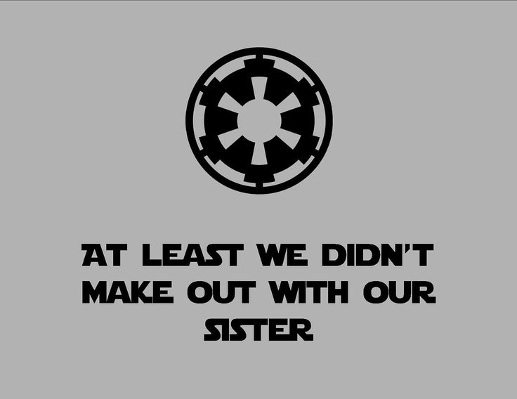 At Least We Didn't Make Out With Our Sister T-Shirt - Funny Star Wars Empire Logo Shirt - Imperial Symbol - Free Shipping. $15.00, via Etsy.: Tshirts, T Shirt, Empire Logo, Starwars