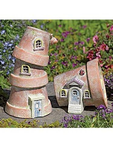 Flower Pot Houses (For a fairy garden maybe?)