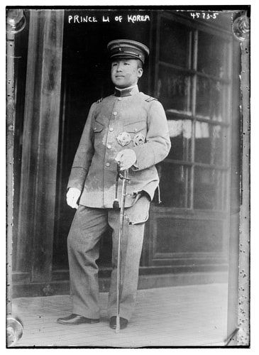 Korean Crown Prince Yi Eun in Japanese Imperial Army uniform. ca. 1918-24? Library of Congress Prints and Photos, George G. Bain Collection