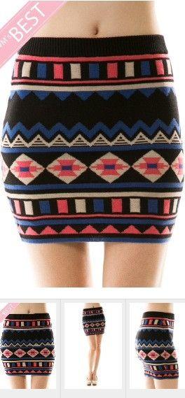 Sale-Ah-MAZING Tribal Print Skirt/Was $34