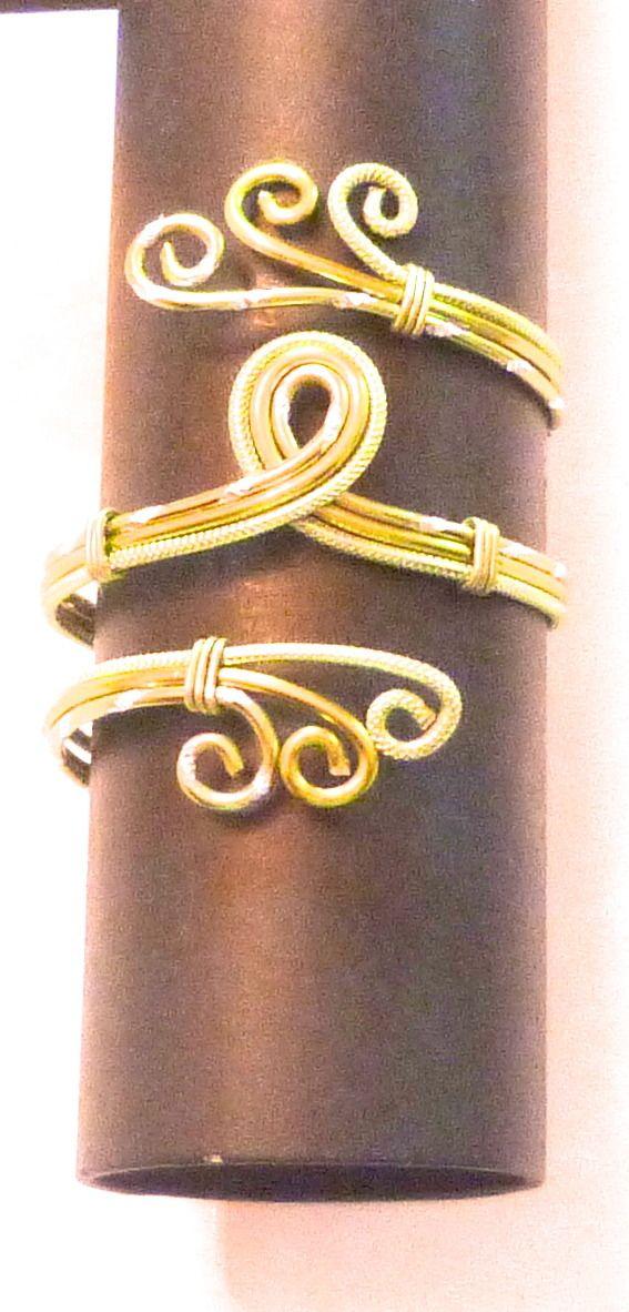 Bracelet en fil aluminium ton vert : Bracelet par bijouxevasion