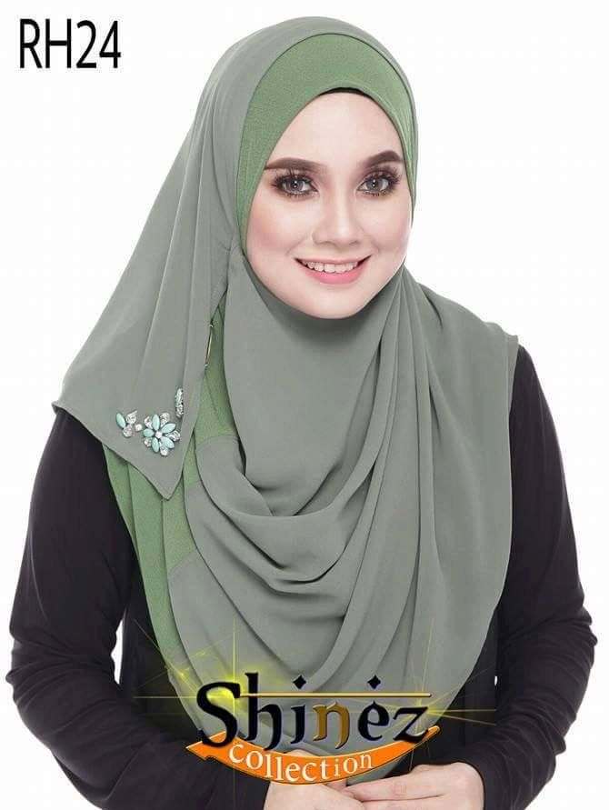 Instant Hijab Qhaira Double LoopShinezCollection Shawl Women / Muslimah / Abaya by MairahsCollezion on Etsy