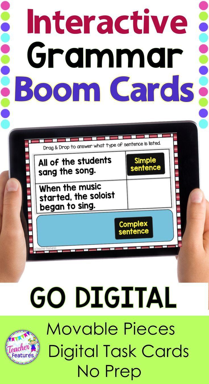 Boom Cards Distance Learning Ela Grammar By Teacher Features Reading Vocabulary Teacher Features Distance Learning