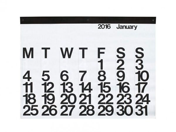 Stendig Calendar by Massimo Vignelli \\\ $45 design-milk