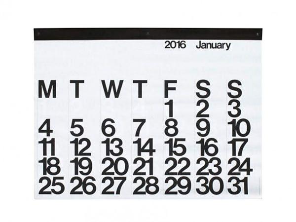 Stendig Calendar by Massimo Vignelli \\\ $45 design-milk