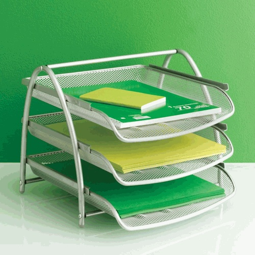 Design Ideas Mesh Letter Tray: Modern Mesh 3-Tier Letter Tray. Pic Found On