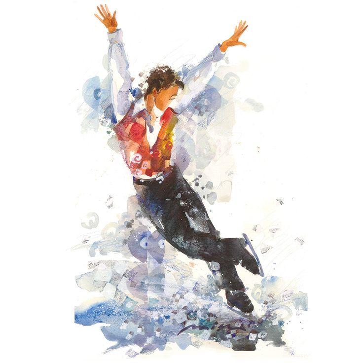 Male Figure Skater | art