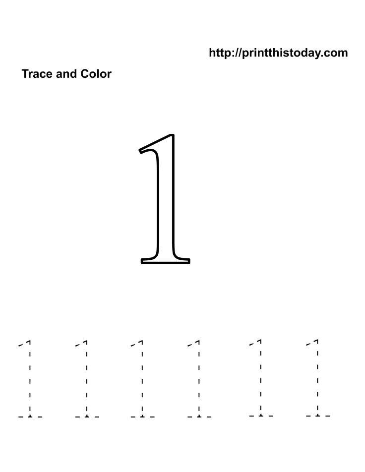 Free Kindergarten Math Worksheets Number One1 Numbers