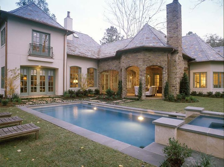 215 Best Images About Home Plans With Pools On Pinterest