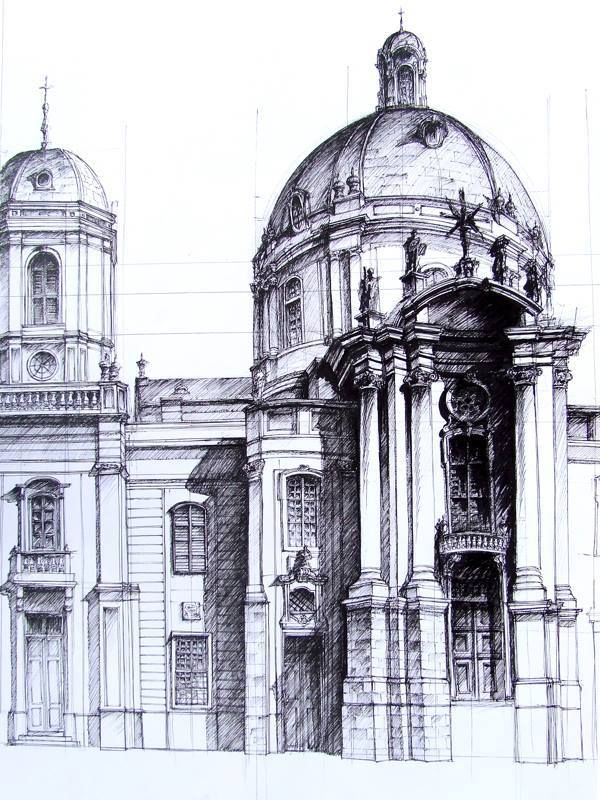 Classic Architecture Sketch