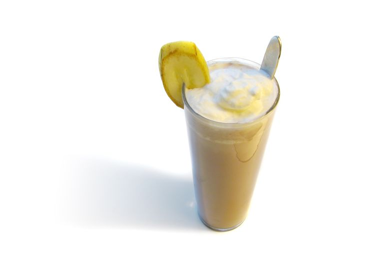 Banan är frukten som egentligen är en ört. I den här drinken blandas bananlikör med choklad. På toppen vilar vispgrädde och den italienska örtlikören, Gall