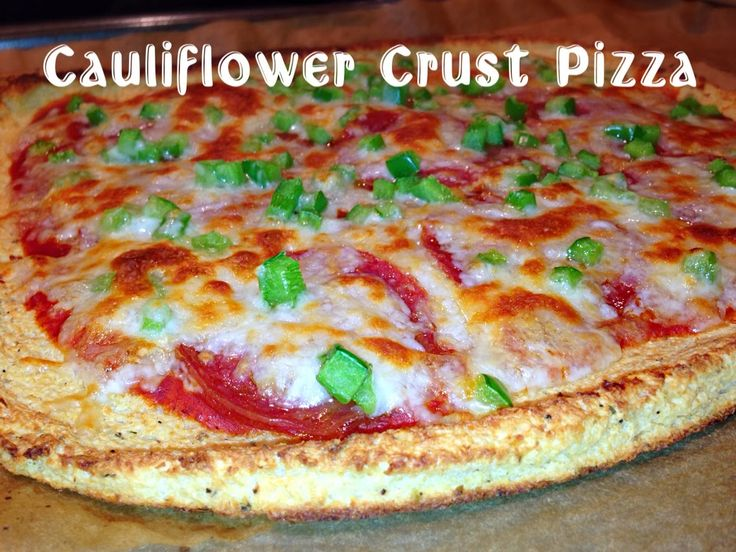 Cauliflower Crust Pizza - South Beach Phase 1 friendly  YES, you can eat Pizza on South Beach!  It's delicious!