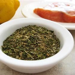 Dianne's Fish Seasoning (and stuffing seasoning) - add bread crumbs, sauteed onions & celery to make into stuffing