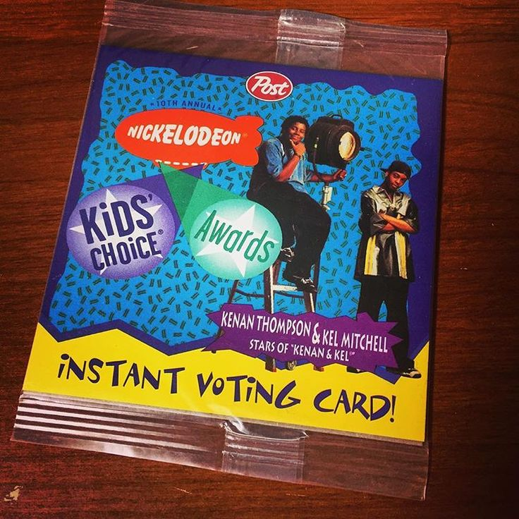 10th Annual Nickelodeon Kids Choice Awards Instant Voting Card! #Nickelodeon #Nicktoons #KCA #KidsChoice…