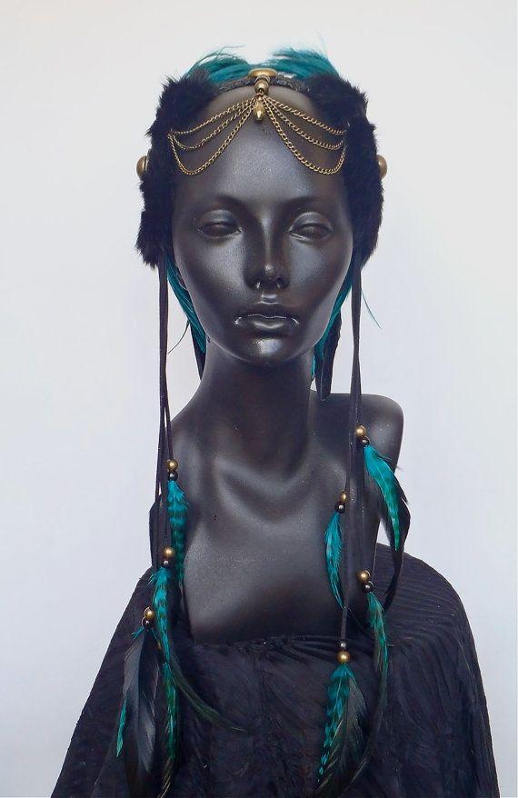 MADE TO ORDER Midsize Teal & Black Warrior por MissGDesignsShop