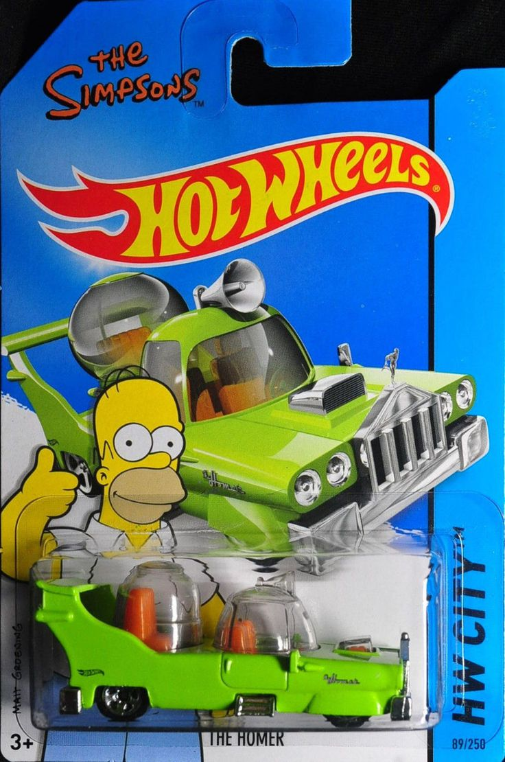 Whitman hot wheels coloring book - Hot Wheels The Simpsons The Homer Nib Nip Hw City New In Package 2015 89