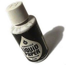 liquid paper was a saving grace in the days of the typewriter!!!