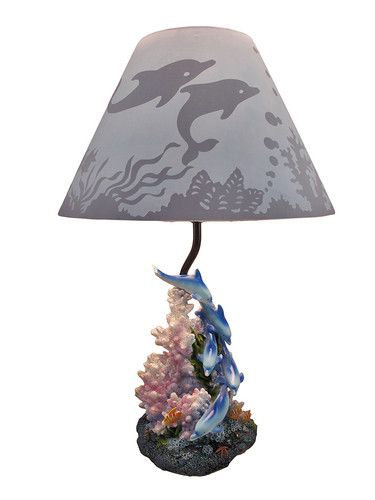 coral dolphin lamp