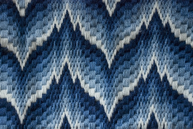 needlepoint | Bargello Needlepoint Pillowtop