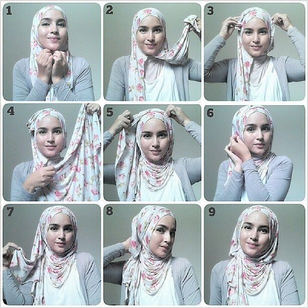 Tutorial Hijab Segi Empat Pita Blog Lif Co Id