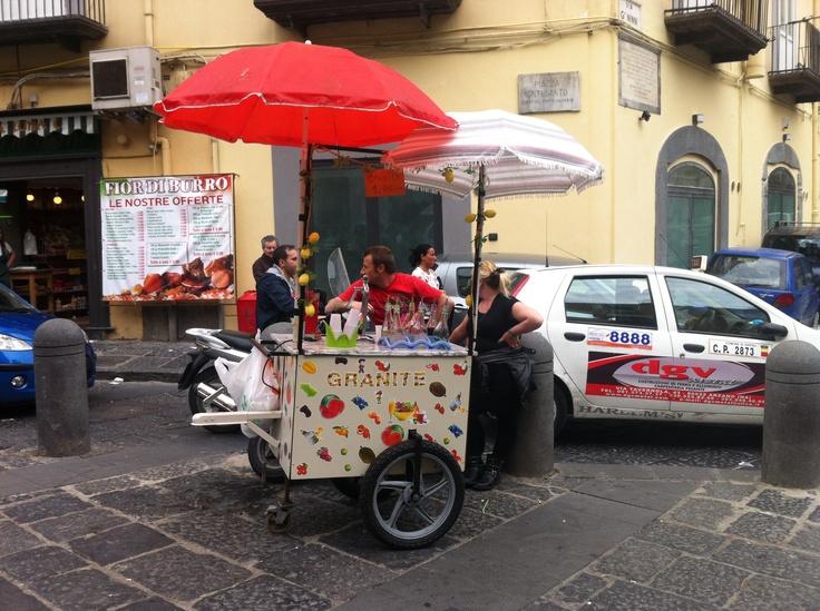 Crushed-ice drinks in Pignasecca