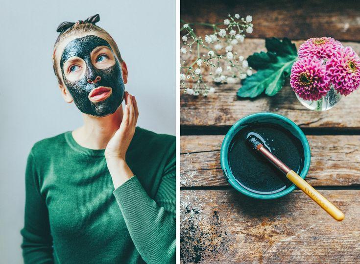 Recept på ansiktsmask med aktivt kol, havre