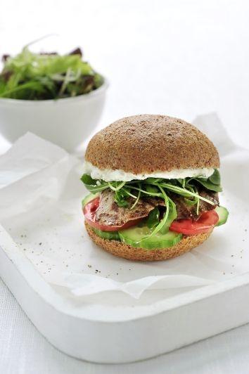 Burger gezond met filet d'Anvers