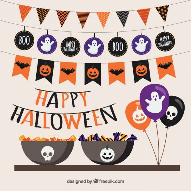 halloween party vector free