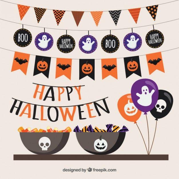 Festa de dia das bruxas feliz Vetor grátis