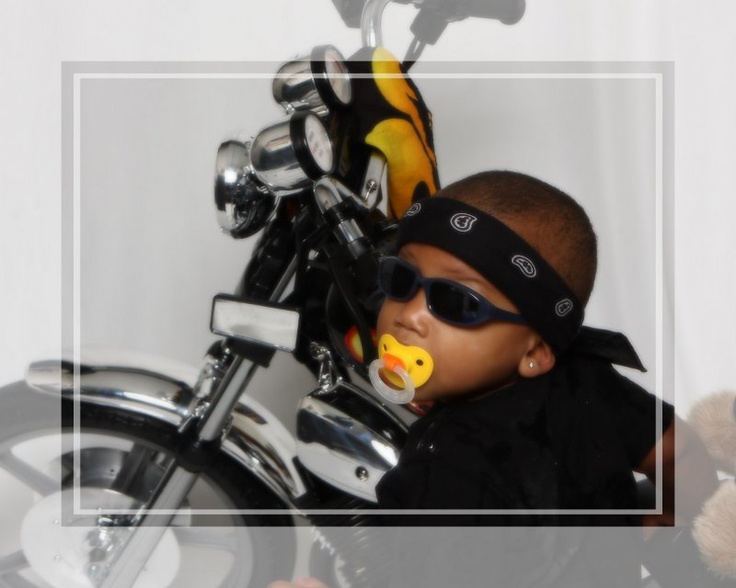 Motorcycle baby! Taken at PictureMe Portrait Studio: Motorcycle Baby, Pictureme Portrait, Portrait Occasions