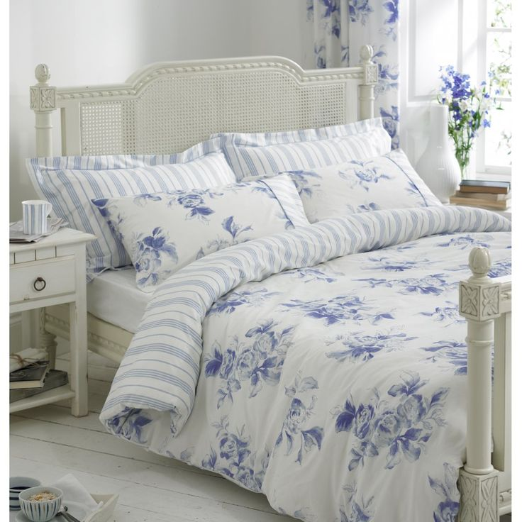 100 Cotton Helena Springfield Margueritte Blue And White