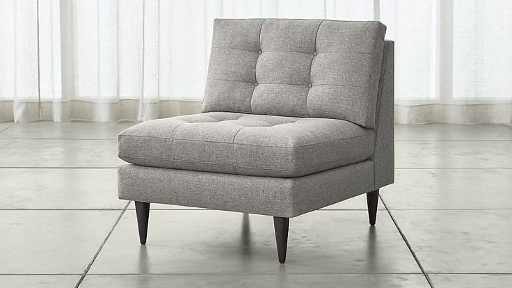 Petrie Armless Chair | Crate and Barrel