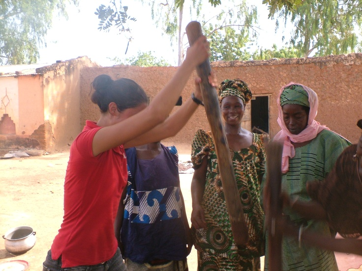 #PotentialistCanada - Trip Purpose 3: Working for women's empowerment - Pounding shea nuts to make shea butter (environmental sustainability project run through Canada World Youth in Mali)