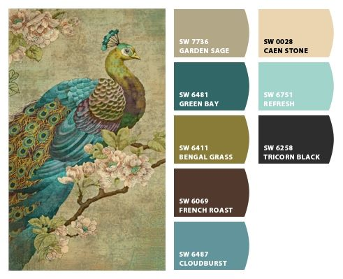 Chip It! by Sherwin-Williams – ChipCard by Laura G.. Peacock color scheme