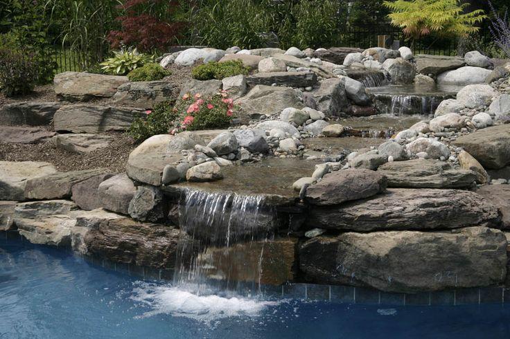 Natural waterfall, exterior design