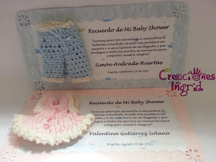 Tarjetas Recordatorios para Baby Shower + Vestido para Niña o ...
