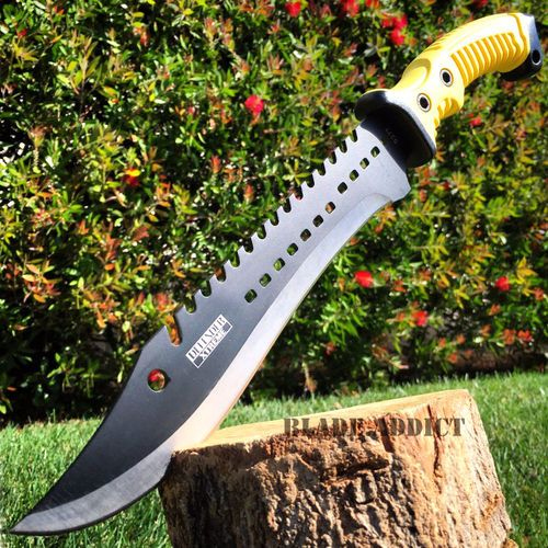 """16"""" TACTICAL HUNTING SURVIVAL FIXED BLADE MACHETE KNIFE Camping Axe Sword YW"""