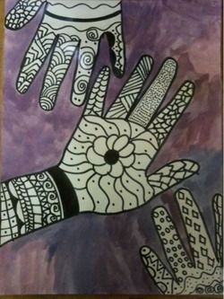Multicultural Art Lesson - Henna and Cultural Art/Design Lesson (Special Ed) Elements of Art - Line Medium: Painting, Drawing Appreciating cultures and differences Special Ed - High School Field Trip to The Rubin Art Museum (NYC)