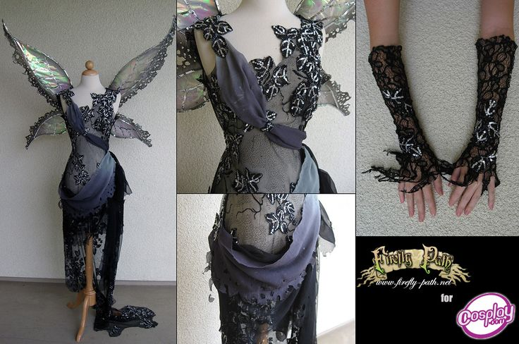 Midnight Fairy Costume... check out the gallery & her store! Wonderful things here!