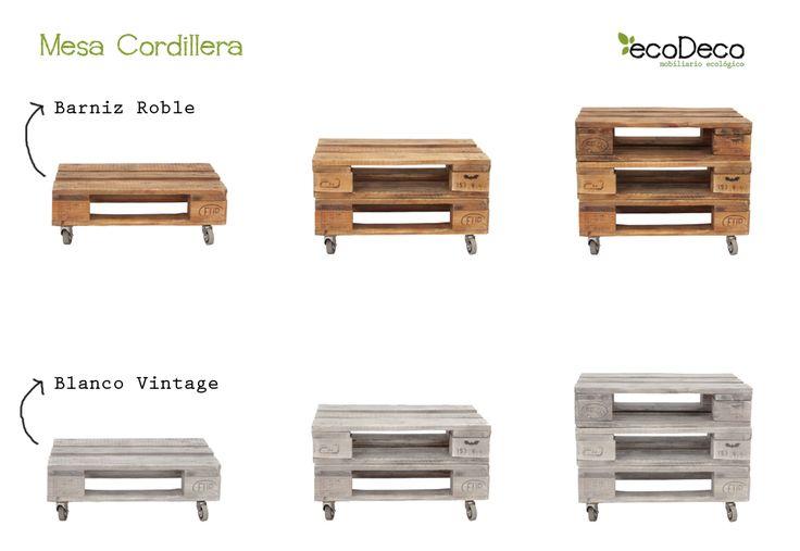 CORDILLERA mesa palets. Mesa realizada con palets europeos reciclados. Precio desde 59€ en www.ecodecomobiliario.com